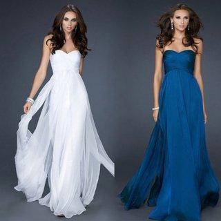 大人シンプルなロングイブニングドレス