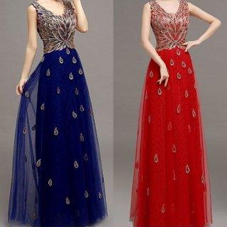 ゴージャス&スタイルアップ 大人のロングドレス