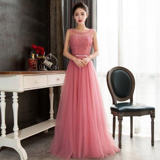 発表会などのお衣装におすすめ あざやかカラーのロングドレス