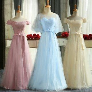 ブライズメイドや発表会におすすめ シンプル&エアリーなロングドレス