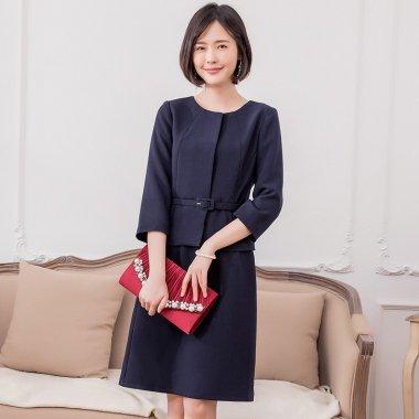 卒入園式などフォーマルに ペプラムスタイルでシンプルだけどおしゃれなスカートセットアップ 3色 スーツ