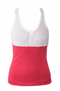 TRUFFLES TANK - RED/WHITE