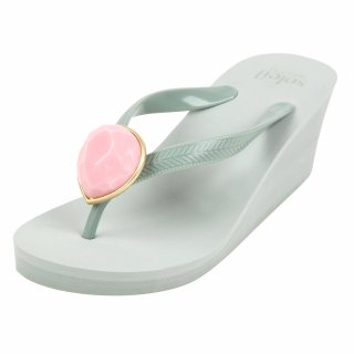 Birthday beach sandal Wedge heel / October / Pink Opal / Khaki(10月ピンクオパール・カーキ)