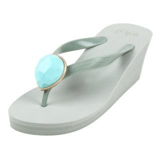 Birthday beach sandal Wedge heel / December / Turquoise / Khaki(12月ターコイズ・カーキ)