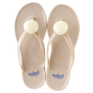 Birthday beach sandal Low heel / June / Pearl / Beige(6月パール・ベージュ)