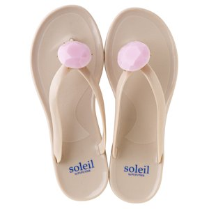 Birthday beach sandal Low heel / October / Pink Opal / Beige(10月ピンクオパール・ベージュ)