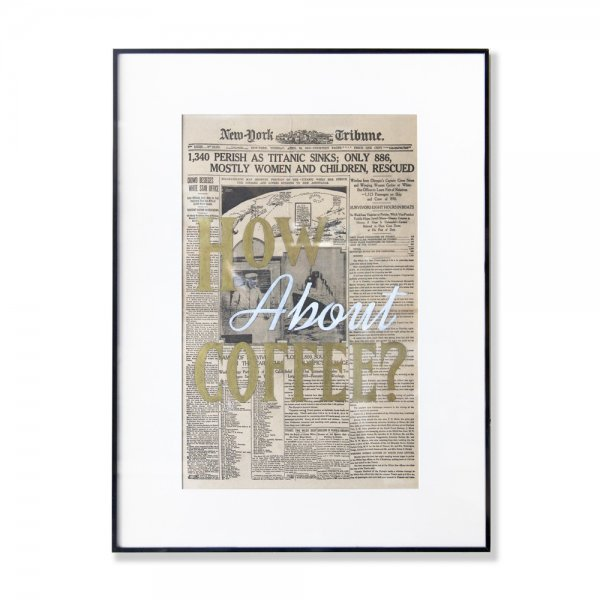 NewsPaper Art / HowAboutCoffee