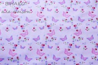 USAコットン Garden Butterfly white