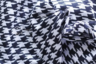 アメリカ直輸入♪ Houndstooth Black Fabric