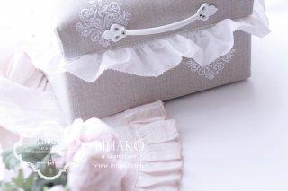 【新商品】タックフリルトリム ホワイト