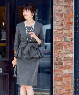 フレアーペプラムスカートスーツセットアップ「SU673」