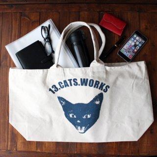 帆布ビッグトートバッグ(VIVI FACE) シルクスクリーン 13.CATS.WORKSオリジナル