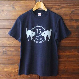 Tシャツ(ロゴ)-シルクスクリーン-13.CATS.WORKSオリジナル
