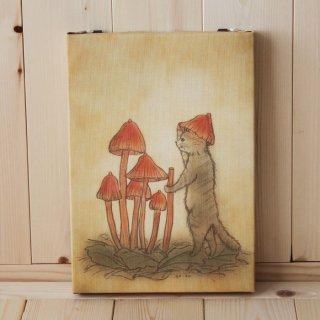 複製画●猫とネコの絵本シリーズ●ネコの帽子