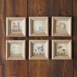 ミニ額入り複製画●猫とネコの絵本シリーズ●6種類セット
