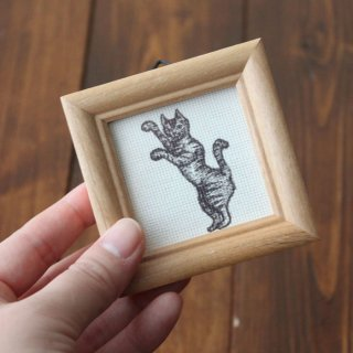 ミニ額入り複製画●オールドキャッツ(阿)●13.CATS.WORKSオリジナル
