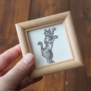 ミニ額入り複製画●オールドキャッツ(吽)●13.CATS.WORKSオリジナル