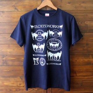 Tシャツ(ロゴ・ROCK)-シルクスクリーン-13.CATS.WORKSオリジナル