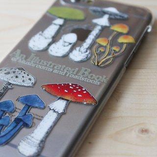 ●キノコ図鑑シリーズ2● アンティークきのこ図鑑� スマホケース iphoneシリーズ※android機種多数対応