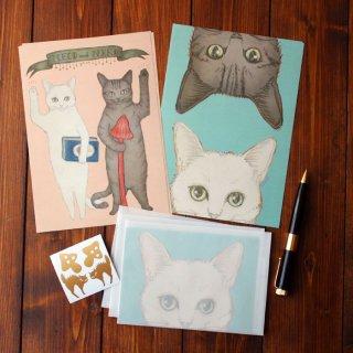 ●猫とネコの絵本シリーズ3●猫とネコのご挨拶 レターセット