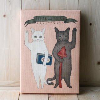 複製画●猫とネコの絵本シリーズ●猫とネコのご挨拶