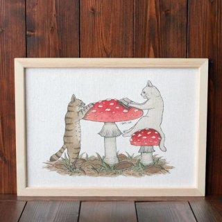 猫とネコの絵本シリーズ『ねえ ねえ ねえ』複製原画A4シート