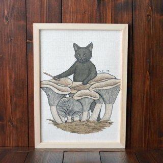 黒猫楽団『ドラム』 複製原画A4シート
