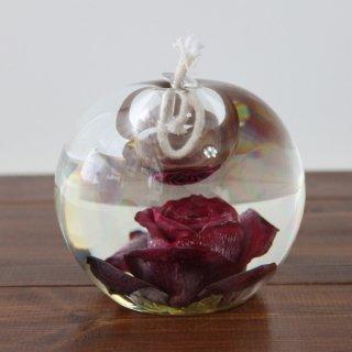 ガラス製・バラオイルランプ(赤)