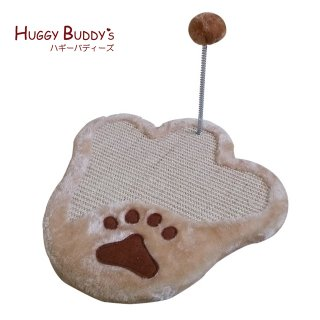 爪とぎキャットマット35cm おもちゃ付き ハギーバディーズ