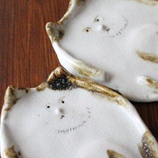 陶器製 猫小皿2枚セット