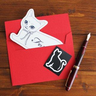 おめかし猫の FOR YOU メッセージカード (Vivi)