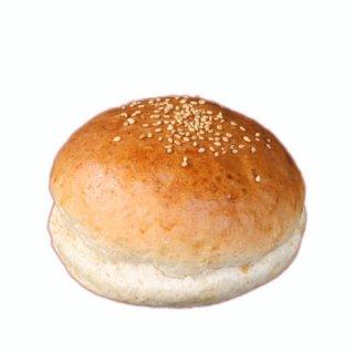 ハンバーガー用グラハムバンズ《光沢、ゴマ付、ビッグ12cm》【冷凍出荷】