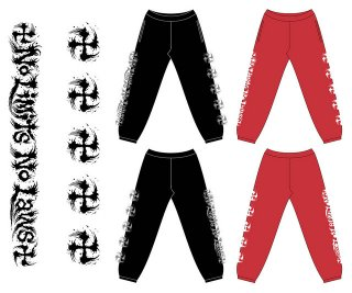 SUGI-MANJI SWEAT PANTS RED/WHITE