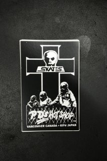 SKULL SKATES HOTSHOP CROSS STICKER