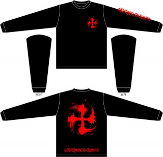 SUGI-MANJI LONG SLEEVE T-SHIRTS BLACK/RED