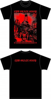 横堀大鉄塔T-SHIRTS BLACK/RED