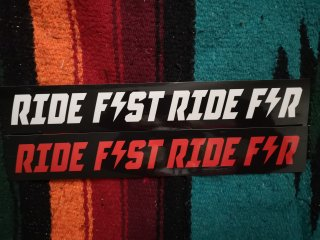 RIDE FAST RIDE FAR STICKER
