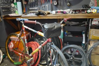 CHROME HELIX HANDLEBAR BAG