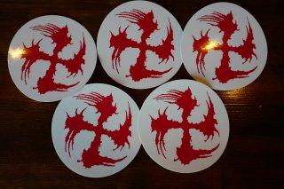 SUGI-MANJI STICKER RED/WHITE SET OF 5