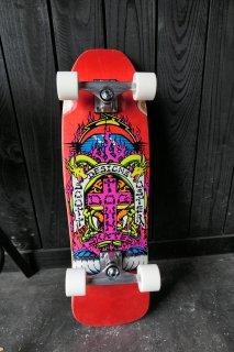Dogtown Scott Oster Mini Cruiser Complete Skateboard - Red Stain 8.75x29.5