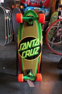 Santa Cruz Rasta Weave Dot Shark Cruzer Skateboard Complete - 8.8x27.7