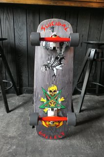 Suicidal Skates Mike Vallely Possessed Barnyard Deck - Black Stain COMPLETE