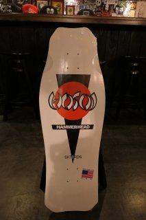 Hosoi OG Classic Hammerhead Deck - White Dip 10.5x31