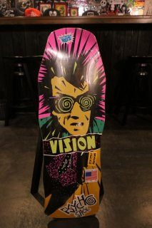 Vision Old School Psycho Re-Issue Concave Deck - Yellow Stain
