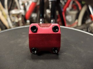 50mm ALLOY STEM RED