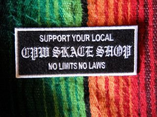SUPPORT LOCAL SKATE SHOP PATCH