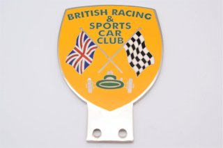 BRITISH RACING & SPORTS CAR CLUB カーバッジ