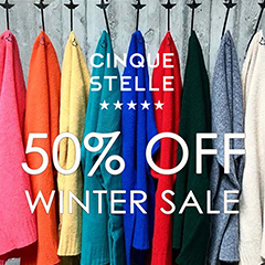 Vol.158:50% OFF☆CINQUE STELLE FINAL WINTER SALE 2018