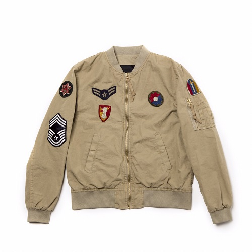 Barbed(バーベッド)|BOMBER BEIGE WITH PATCH