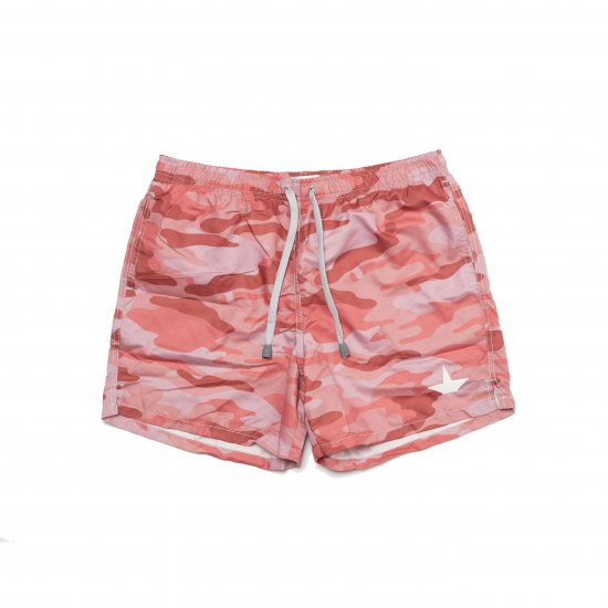 Macchia J. マッキアジェー |BMS17BEACH SHORT-CAMOU RED
